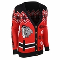 Chicago Blackhawks NHL Women's Ugly Cardigan
