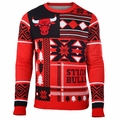 Chicago Bulls NBA Patches Ugly Sweater by Klew