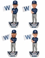 Chicago Cubs 2016 World Series Champions Fly the W Flag Bobble Head Set (4)