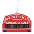 Chicago Cubs 2016 World Series Champions Metal Marquee Sign Ornament