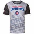 Chicago Cubs 2016 World Series Champions Repeat Diagonal Tee