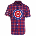 Chicago Cubs MLB Colorblock Short Sleeve Flannel by Forever Collectibles