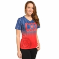 Chicago Cubs MLB Team Color Gradient Women's V-Neck Tee by Forever Collectibles