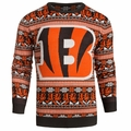 Cincinnati Bengals Aztec NFL Ugly Crew Neck Sweater by Forever Collectibles