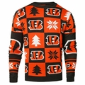Cincinnati Bengals Patches NFL Ugly Crew Neck Sweater by Forever Collectibles