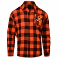 Cincinnati Bengals NFL Checkered Men's Long Sleeve Flannel Shirt