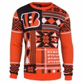 Cincinnati Bengals Patches NFL Ugly Sweater by Klew