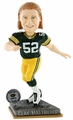 Clay Matthews (Green Bay Packers) 2015 Springy Logo Action Bobble Head Forever Collectibles