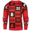 Cleveland Browns Patches NFL Ugly Crew Neck Sweater by Forever Collectibles