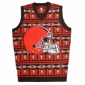 Cleveland Browns Aztec NFL Ugly Sweater Vest