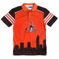 Cleveland Browns NFL Polyester Short Sleeve Thematic Polo Shirt