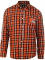 Cleveland Browns Wordmark Mens Long Sleeve Flannel Shirt