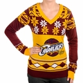 Cleveland Cavaliers Big Logo (Women's V-Neck) NBA Ugly Sweater