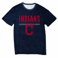 Cleveland Indians Big Logo Half Tone Tee by Forever Collectibles