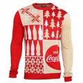 Coca-Cola Patches Sweater by Forever Collectibles