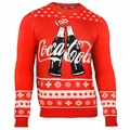 Coca-Cola Wordmark Ugly Sweater By Forever Collectibles