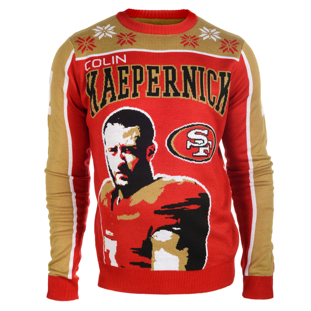 Colin Kaepernick #7 (San Francisco 49ers) NFL Player Ugly Sweater