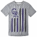 Colorado Rockies Big Logo Flag Tee by Forever Collectibles