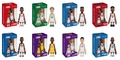 COOLRAIN MINDstyle NBA Legends Complete set (8)