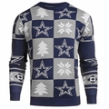 Dallas Cowboys Patches NFL Ugly Crew Neck Sweater by Forever Collectibles