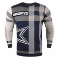 Dallas Cowboys Men's Plaid Crew Neck NFL Ugly Sweater