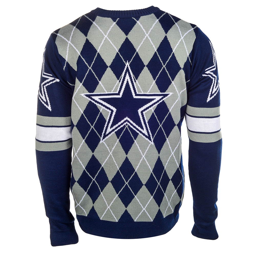 Dallas Cowboys NFL Argyle Sweater CLARKtoys Exclusive