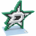 Dallas Stars NHL 3D Logo BRXLZ Puzzle By Forever Collectibles
