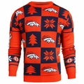 Denver Broncos Patches NFL Ugly Crew Neck Sweater by Forever Collectibles