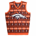 Denver Broncos Aztec NFL Ugly Sweater Vest