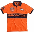 Denver Broncos NFL Cotton Wordmark Rugby Short Sleeve Polo Shirt