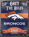 Denver Broncos Embossed Metal Sign