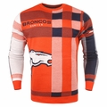 Denver Broncos Men's Plaid Crew Neck NFL Ugly Sweater