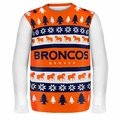 Denver Broncos NFL Ugly Sweater Wordmark