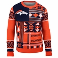 Denver Broncos Patches NFL Ugly Sweater by Klew