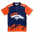 Denver Broncos NFL Polyester Short Sleeve Thematic Polo Shirt