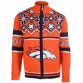 Denver Broncos Split Logo NFL Sweater Jacket