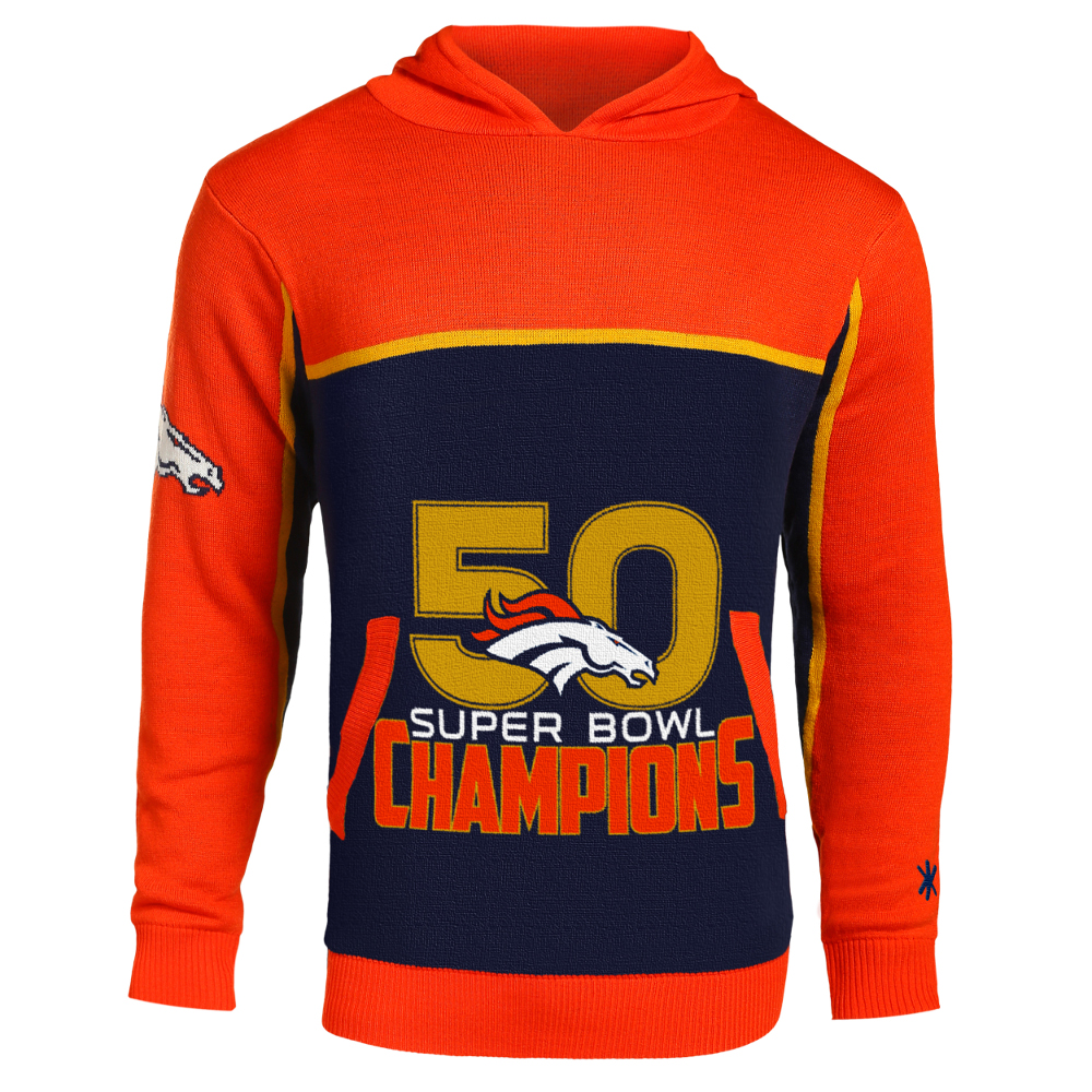 ... Performance Denver Broncos Super Bowl 50 Champions Pullover Sweater  Hood Mens ... 0963882d7