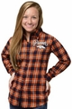 Denver Broncos NFL 2016 Women's Wordmark Long Sleeve Flannel Shirt