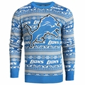 Detroit Lions Aztec NFL Ugly Crew Neck Sweater by Forever Collectibles