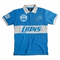 Detroit Lions NFL Cotton Wordmark Rugby Short Sleeve Polo Shirt