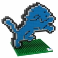 Detroit Lions NFL 3D Logo BRXLZ Puzzle By Forever Collectibles