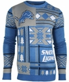 Detroit Lions Patches NFL Ugly Sweater by Klew