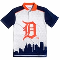 Detroit Tigers MLB Polyester Short Sleeve Thematic Polo Shirt