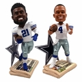 "Elliott/Prescott (Dallas Cowboys) How 'Bout Them Cowboys Newspaper Base 10"" Bobble Head Combo"