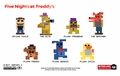 Five Nights at Freddy's 8-Bit Buildable Figures Series 2 Set (6)