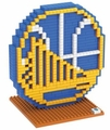Golden State Warriors NBA 3D Logo BRXLZ Puzzle By Forever Collectibles