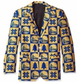 Golden State Warriors NBA Ugly Business Sport Coat Repeat Logo by Forever Collectibles