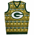 Green Bay Packers Aztec NFL Ugly Sweater Vest