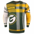 Green Bay Packers Men's Plaid Crew Neck NFL Ugly Sweater