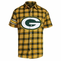 Green Bay Packers NFL Colorblock Short Sleeve Flannel